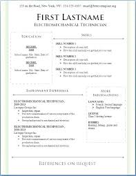 English Cv Template Download Template English Cv Sample Download