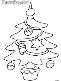 Kleurplaat Peuter Kleurplaat Kerstboom Kleurplatennl Printables