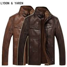 2019 leather jacket male casual motorcycle leather jacket mens fashion coat pilot er jacket jackets design stand collar coat
