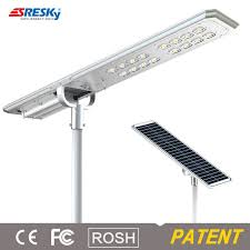 80w integrated fixture all in one solar led street light for india market