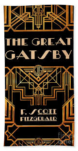 The Great Gatsby Book Cover Movie Poster Art 3 Beach Sheet For Sale