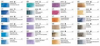 Maimeriblu Watercolor Chart Pdf Jane Blundell Artist Maimeriblu Watercolour Chart