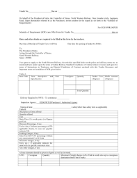 Schedule Of Requirement (Sor) Cum Offer Form For Tender No