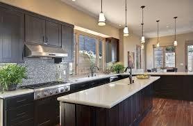 Wonderful Espresso Kitchen Cabinets With White Granite Top Counter   Google Search