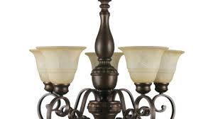 stylish ideas home depot chandelier lights hampton bay carina 5 light aged bronze with tea stained glass shade