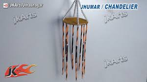 how to make eind chime chandelier easy craft for kids jk arts 535 you