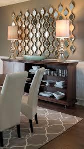 contemporary dining room mirror wall