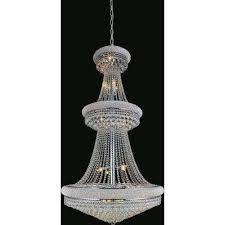 empire 34 light chrome chandelier