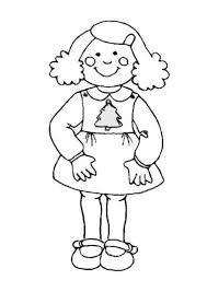 Small Picture Coloring Page Of A Girl chuckbuttcom