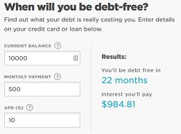 Credit Card How To Calculate The Number Of Months Until A Loan Is