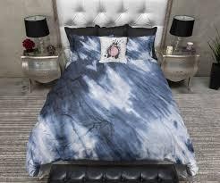black tie dye bedding image of