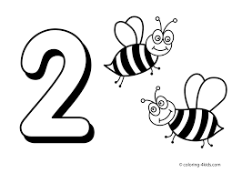 Small Picture Number 2 Coloring Page GetColoringPagescom