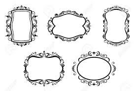 antique picture frames vector. Antique Vintage Frames Isolated On White For Design Stock Vector - 6827214 Picture