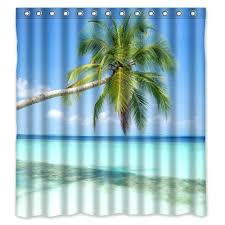palm tree curtains palm tree leaf shower curtain