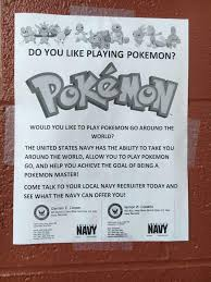 Recruitment Strategy Interesting Do You Like Playing Pokemon The United States Navy Has The Ability