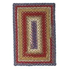 log cabin braided rug