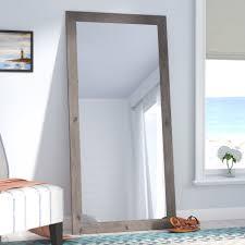 Full lenght mirror Wood Frame Wayfair Beachcrest Home Albertina Full Length Mirror Reviews Wayfair