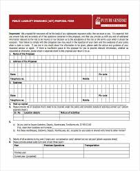 38 insurance proposal form in