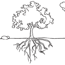Small Picture Tree Coloring Pages With Roots bare tree coloring pages tree with