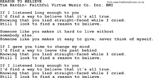 peter paul and mary song reason to believe lyrics peter paul and mary song reason to believe lyrics