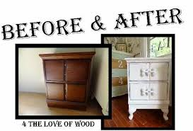 Shabby chic nightstand Drawer Nightstand To See The Dramatic Makeover Rlci The Love Of Wood Shabby Chic Nightstands Makeover Dark Wood To