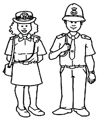 Police Coloring Books Fireman And Policeman Coloring Pages Police