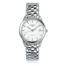 longines flagship l4 874 4 12 6 the watch gallery longines flagship steel automatic mens watch l47744126