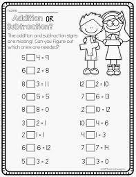 Free Addition and Subtraction Worksheets for 1st Grade ...