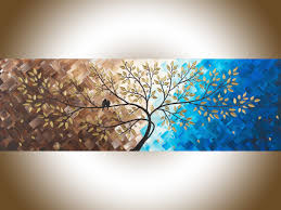 beautiful love by qiqigallery 36 x 12 original modern abstract landscape wall painting office