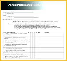 Employment Form Template Sample Employee Review Template Annual Employee Review Template Free