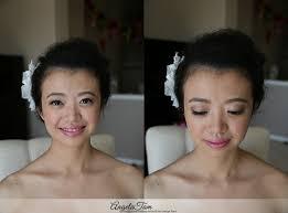 los angeles blushing natural glow asian chinese bride makeup artist angela tam jia and michael san