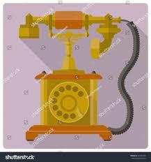 Old Telephone Design Vintage Telephone Vector Icon Retro Style Stock Image