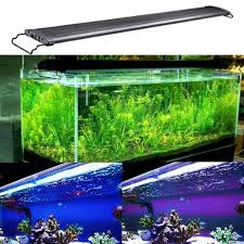 150cm Aquarium Light Kzkr Aquarium Hood Lighting Led Fish Tank Light 11 78 Inch Lamp For Freshwater Saltwater Marine Blue And White Light Decorations