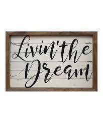 love this livin the dream wood wall art