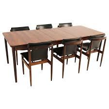 vintage mid century modern table black white fabric chairs room pillar best inspiration round glass pendant
