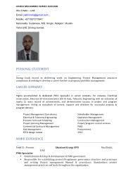 Telecom Project Manager Cv Rome Fontanacountryinn Com