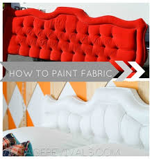 furniture fabric paintEpic Room Makeover Tufted Headboard Tutorial How To Paint Fabric