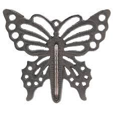 large 17cm cast iron erfly design