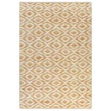 vidaxl hand woven jute area rug fabric 120x180cm natural and white carpet