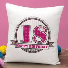 personalised birthday cushion image