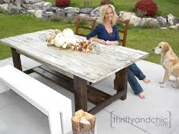 Thrifty and Chic: DIY Outdoor Farmhouse Table