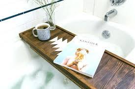 teak bathtub caddy s tray blissful bath tub wood