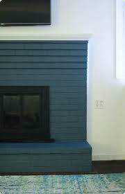 fireplace painted navy