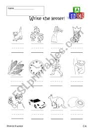 Practice uppercase letter c recognition and basic phonics with this alphabet worksheet. Phonics Practice C And K Esl Worksheet By Jawful