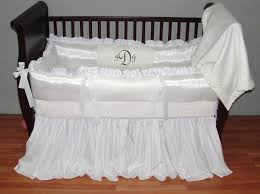white luxury baby linens