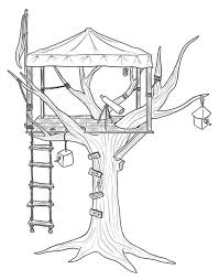 Small Picture Treehouse for Observer Coloring Page Treehouse for Observer