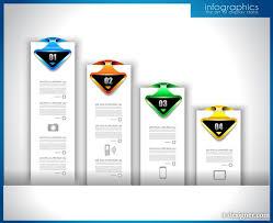 Creative Design Templates 4 Designer Creative Graphics Number Label Design Template Vector