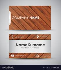 wooden business cards design of the business card with wooden texture