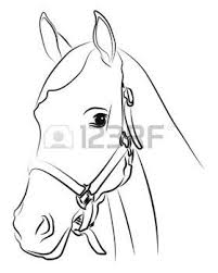 Horse Head Horse Head Silhouette Isolated On White Craft Ideas