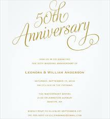 Th Anniversary Invitations Templates Free Invitation Cards For